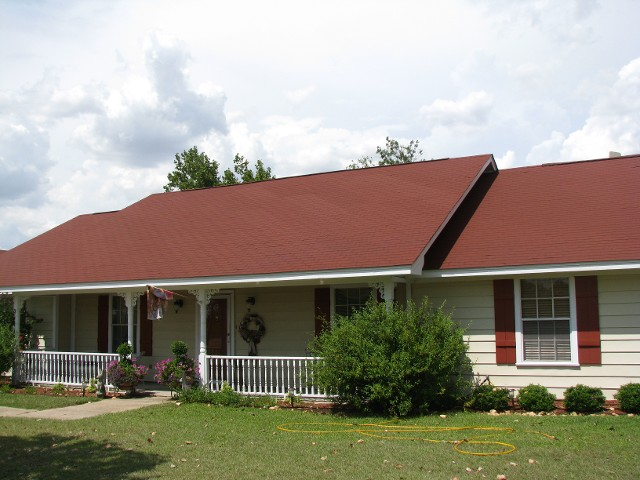 Residential Shingle Roofing   Red Roof 1